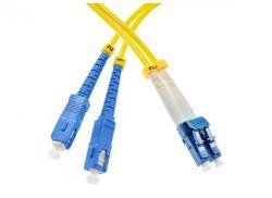 Single mode fiber optic patch cable SC/UPC-LC/UPC SM9/125, 15m, OS2, duplex 04524
