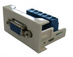 Plate with VGA socket REHAU-VGA